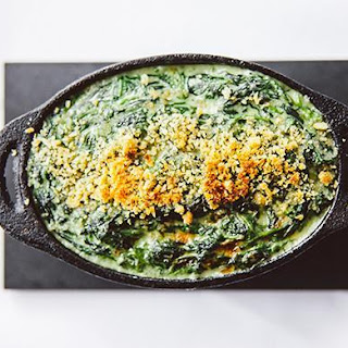 Creamed Spinach Gratin with Pecorino and Thyme