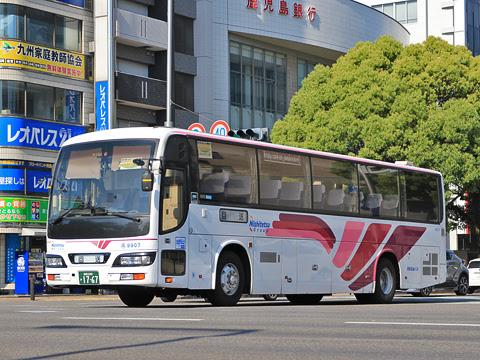 西鉄高速バス「フェニックス号」 9907 宮崎駅にて