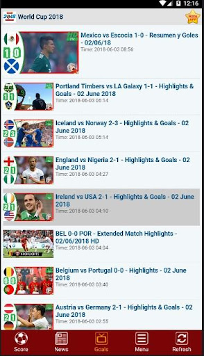 Livescore : World Cup Russia 2018 2.1.0 screenshots 4