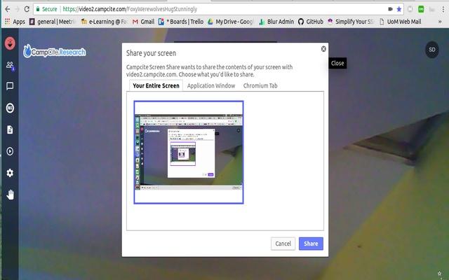 Campcite Screen Share