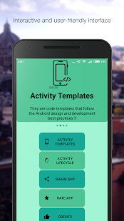 Android Activities - náhled