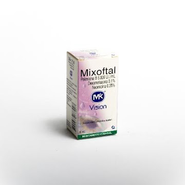 Mixoftal MK Sus.   Oftálmica x5ml TQ Polimixina B Dexametasona Neomicina