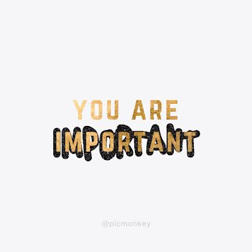 You Are Important - Instagram Post template