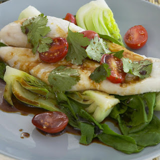 Baked Sole with Warm Bok Choy Salad