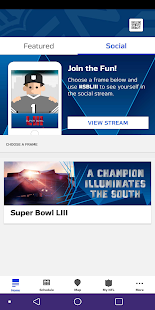 Super Bowl LIII Fan Mobile Pass Screenshot