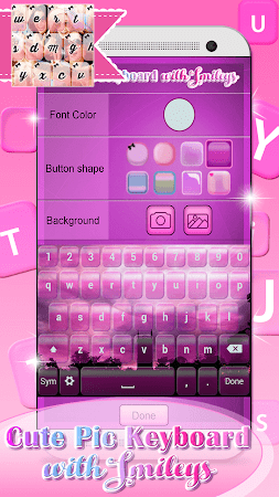 Cute Pic Keyboard with Smileys 3.0 screenshot 2090735