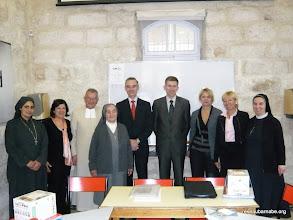 Photo: Les directeurs ou professeurs de Jérusalem réunis au Centre culturel français de Jérusalem