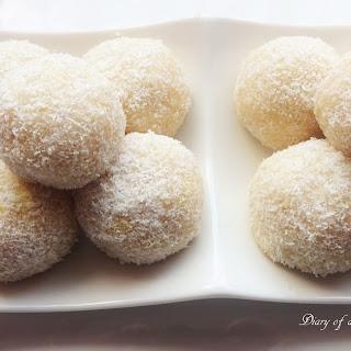 No Bake Pina Colada Snow Balls