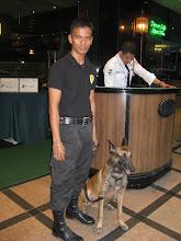 Photo: Три охранника у входа в гостиницу