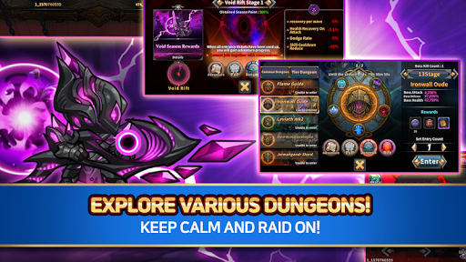Raid the Dungeon : Idle RPG Heroes AFK or Tap Tap apkslow screenshots 18