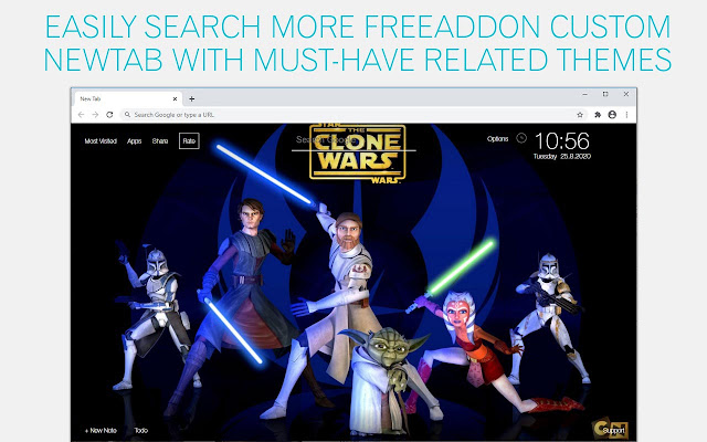 Star Wars The Clone Wars Wallpaper HD Star Wars The Clone Wars New Tab
