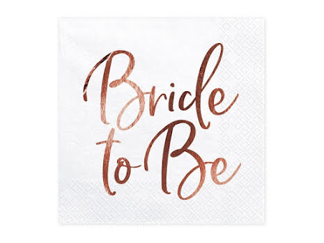 Servetter - Bride to be, roséguld