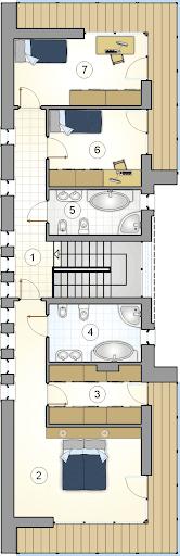 Modern House II - Rzut piętra