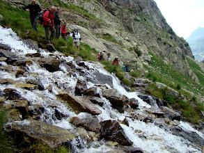 Photo: El paso no es fácil.