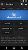 Screenshot of Church Unlimited