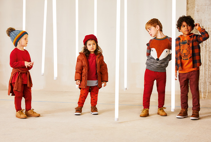 Discover our Red and Blue kids' trends