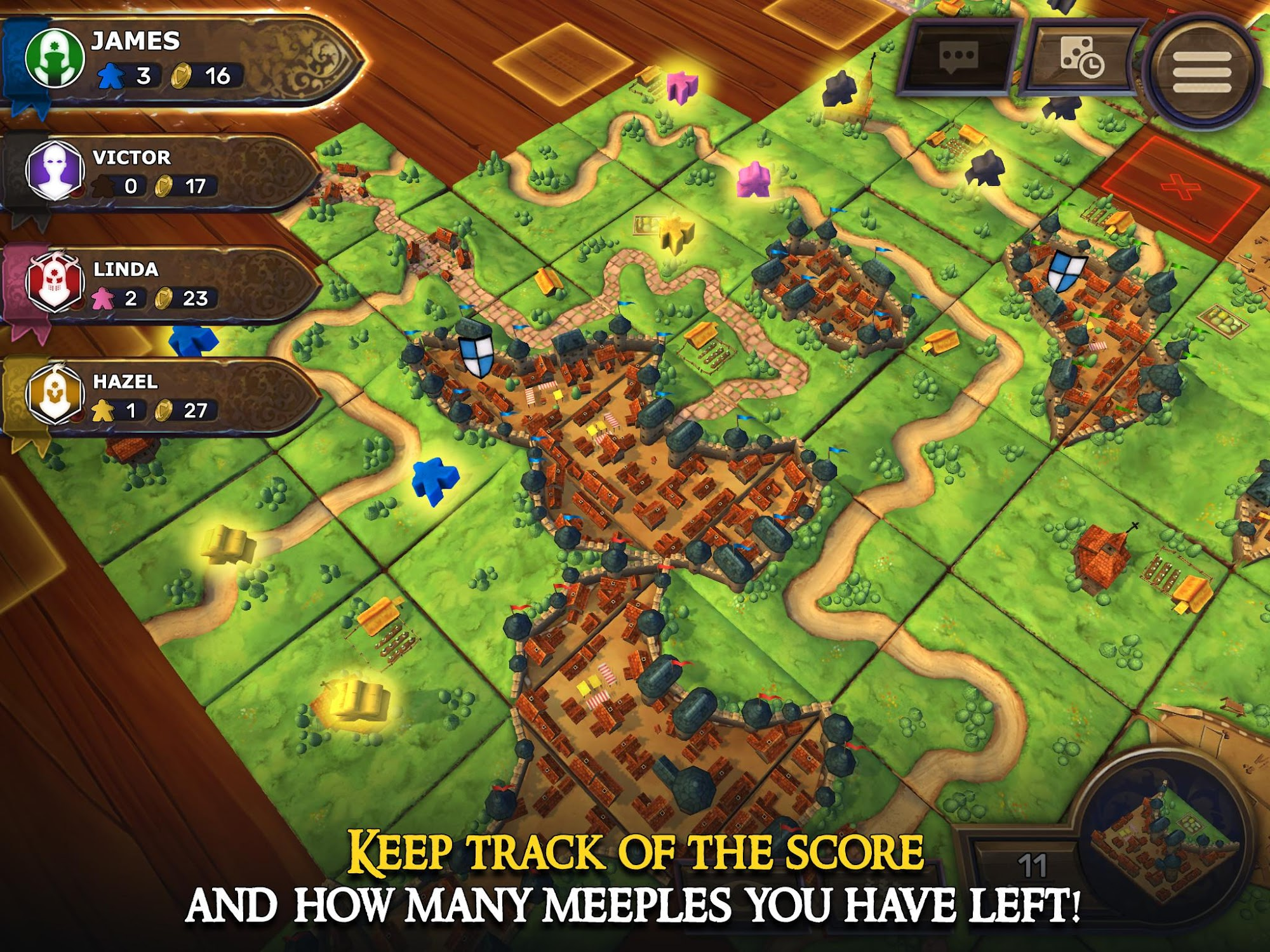 Carcassonne: Official Board Game -Tiles & Tactics screenshot #12