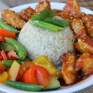 Sesame Orange Chicken Stir Fry.