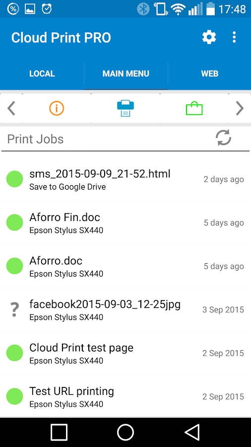 Cloud Print plus- screenshot