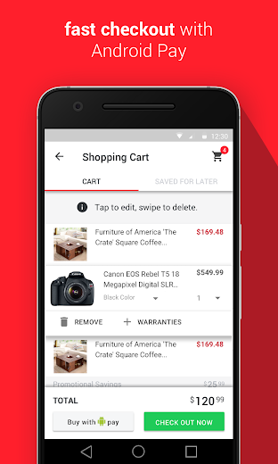Screenshot 4 for Overstock.com's Android app'