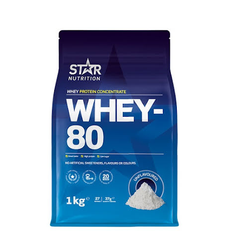 Star Nutrition Whey 80 1kg - Natural