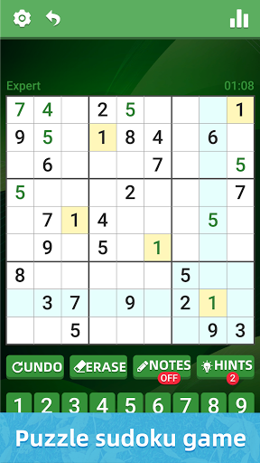 Sudoku Classic Puzzle - Casual Brain Game apktram screenshots 1