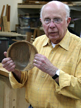 Photo: Bill Long shows the first of the 3 bowls that all have church connections.