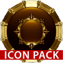 HAMOND gold - Icon pack black 3D icon