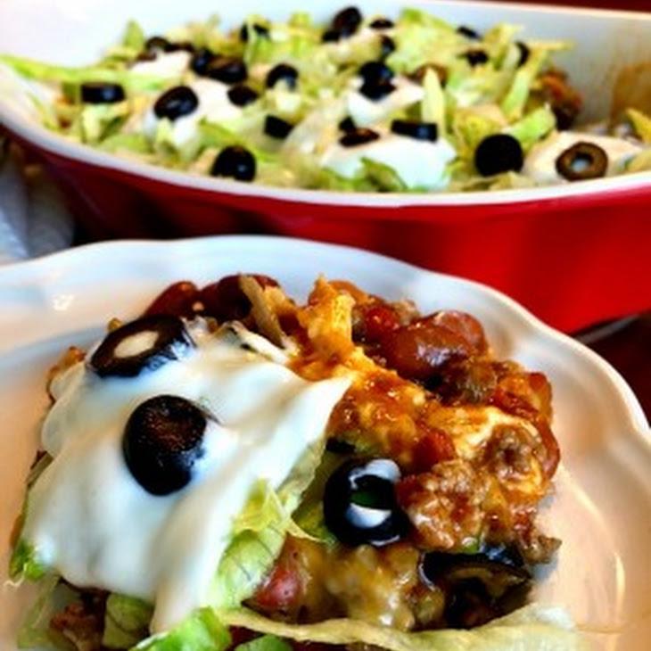 Hot Cheesy Mexican Taco Dip Recept | Yummly