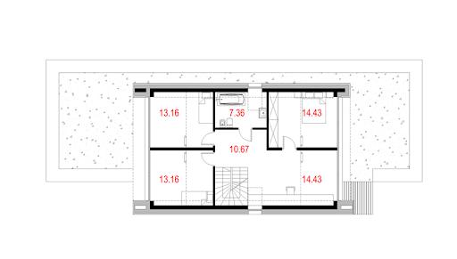 House X06 - Rzut poddasza