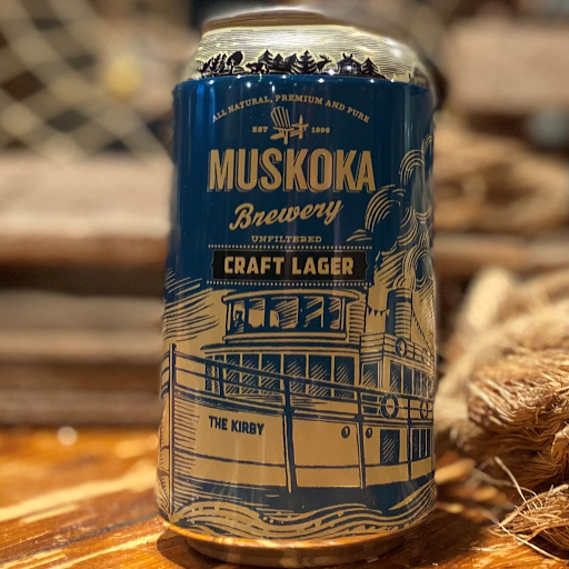Muskoka Craft Lager 355ml can 4PACK