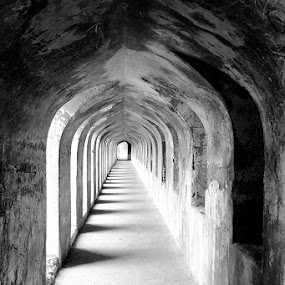 MYSTIC REMINISCENCE by Sayan Bhattacharya - Buildings & Architecture Statues & Monuments ( black and white,  )