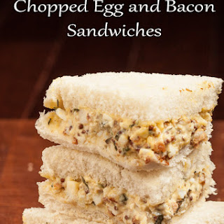 Chopped Egg and Bacon Sandwiches.