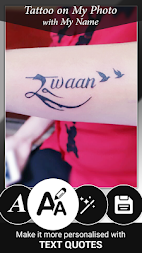 Tattoo Name On My Photo Editor APK screenshot thumbnail 1