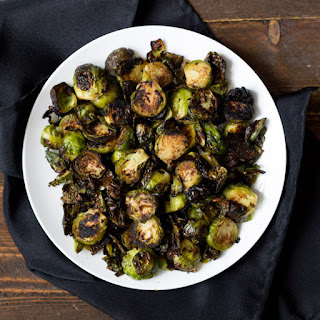 Crispy Miso Roasted Brussel Sprouts