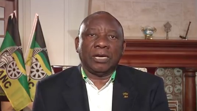 President Cyril Ramaphosa in an address to the nation on Tuesday night.