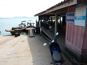 Photo: Laem Kruat (100B by pickup from Krabi town neanderthal traffic lights junction) - proper pier for boats to Ko Jum (50-60B) after waiting in wrong and missed boat leaving at 1PM waiting for another at 2:30PM