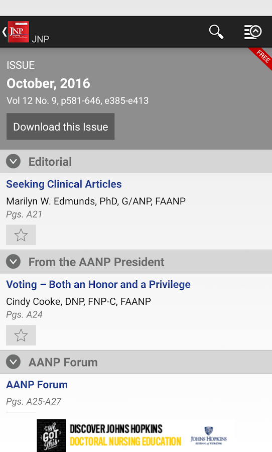 JNP: Jrnl for NPs- screenshot