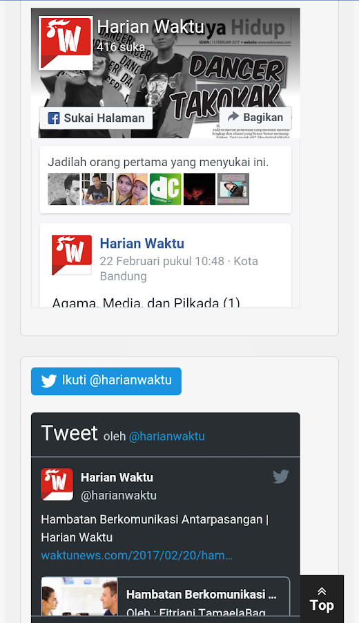 HarianWAKTU- screenshot