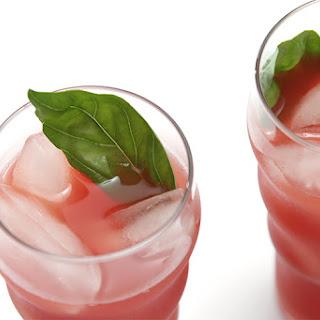 Watermelon Agua Fresca With Basil And Cayenne