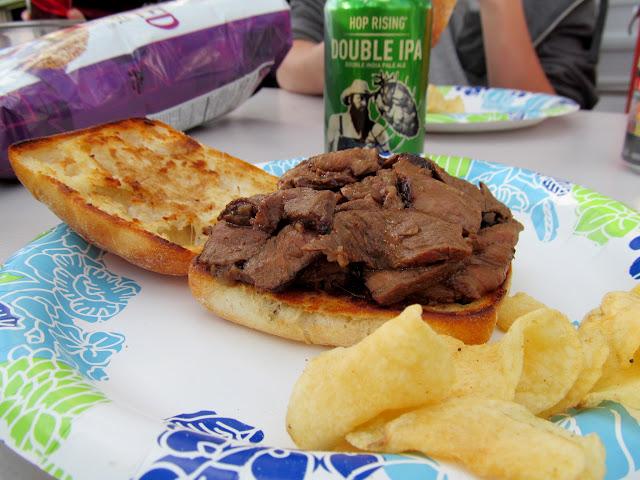 Steak sandwiches for dinner