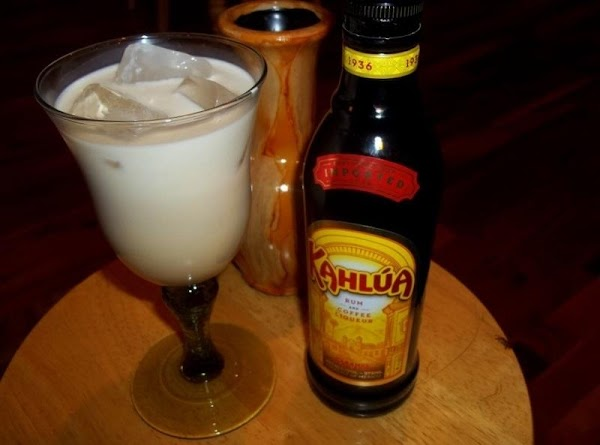 Pour the Kahlua into a rocks glass with some ice, or use a wine...