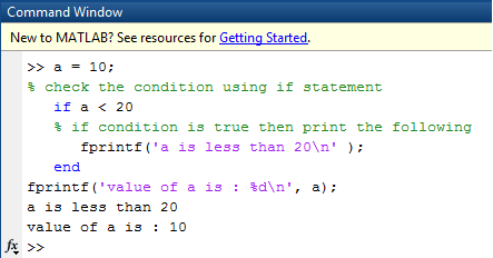 matlab if statement example