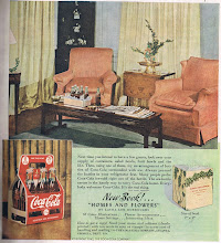 Photo: Coca Cola offered a book on flower arranging, and suggested you set out a tray of ice filled with bottles of ice cold Coke for your guests.