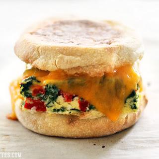 Veggie Packed Freezer Ready Breakfast Sandwiches