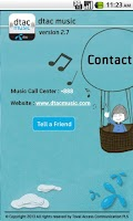 Screenshot of dtac music
