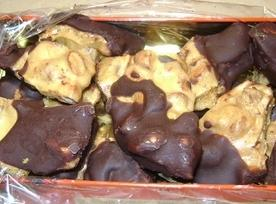 Almond Brittle Dipped In Chocolate Recipe