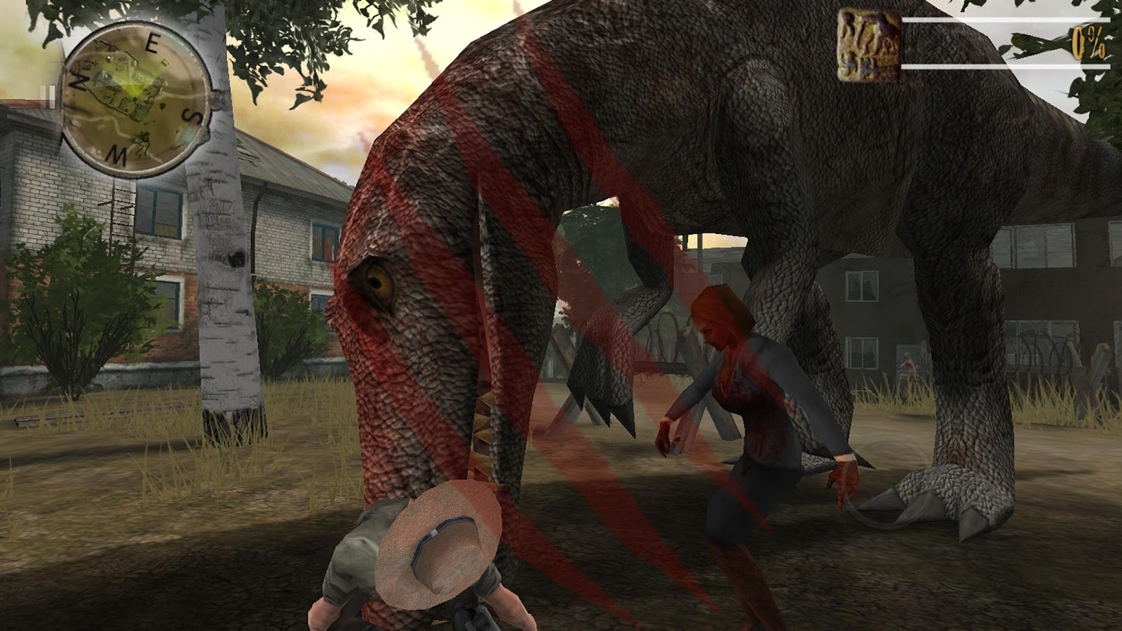 Zombie Fortress Dino Unlocked- screenshot