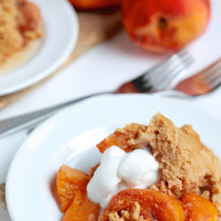 Coconut Peach Cobbler