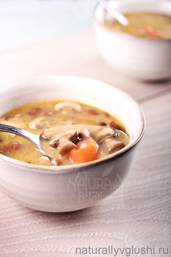 Похлебка с грибами рецепт | Блог Naturally в глуши